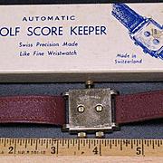Swiss Automatic Golf Score shot/stroke/putt Keeper  precision wristwatch model C-20 circa 1950