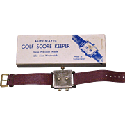 Swiss Automatic Golf Score shot/stroke/putt Keeper  precision wristwatch model C-20 circa 1950