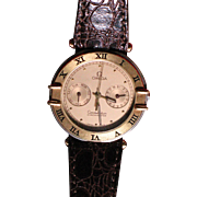 OMEGA Constellation chronometer 18K gold bezel quartz men's watch