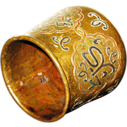 Bronze vase Persian Islamic Cairoware Ottoman Empire  with copper and silver inlay