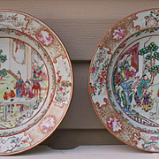 Chinese porcelain pair of dishes middle of 18th century