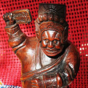 """Chinese wood carving of Guan Yu God of War 7.5"""""""
