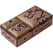 Chinese cloisonne smoking set dragons 19th century