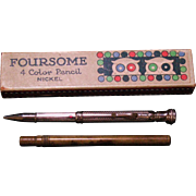 Mechanical pencil FOURSOME 4 color in nickel trim w/original box