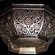 German 800 silver repousse fruit bowl by famous POSEN family