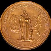 American Jewish Tercentenary  commemorative bronze Medal 1954