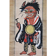 Japanese painting from OTSU depicting  of Oni No Nembutsu Edo period
