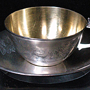 Russian 875 silver cup and saucer Tallinn Estonia 1953-1958