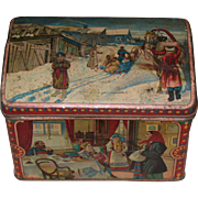 Russian Imperial tin tea box 19th century