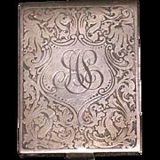 Sterling silver vesta match holder safe New York early 1900