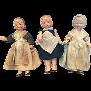 Trio of German Dollhouse Dolls