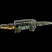 Vintage Tin Alligator Noddler Toy
