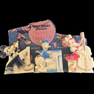 Vintage Walt Disney Mickey & Minnie Mouse Party Baskets