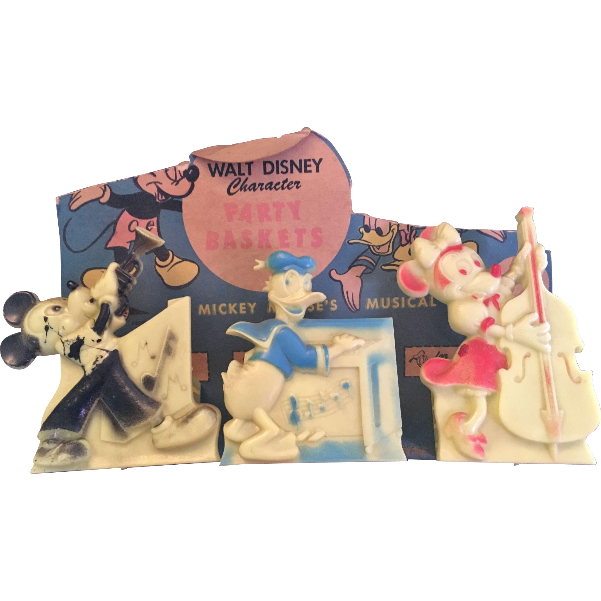 Vintage Walt Disney Mickey & Minnie Mouse Party Baskets