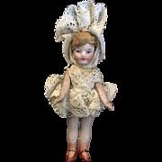Miniature Dollhouse All Bisque Little Girl Doll
