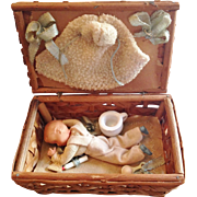 Original Baby Doll Nursery Set in Basket