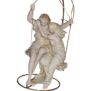 Beautiful Mon & Woman Double Swinger Figurine
