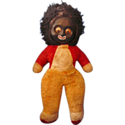 Golliwog Stuffed Google Eye Squeaker Toy