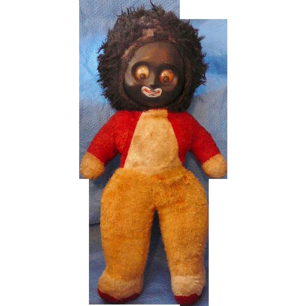 Golliwog Stuffed Google Eye Squeaker Toy