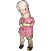 Heubach Miniature Doll Spun Cotton Snow Baby Ornament