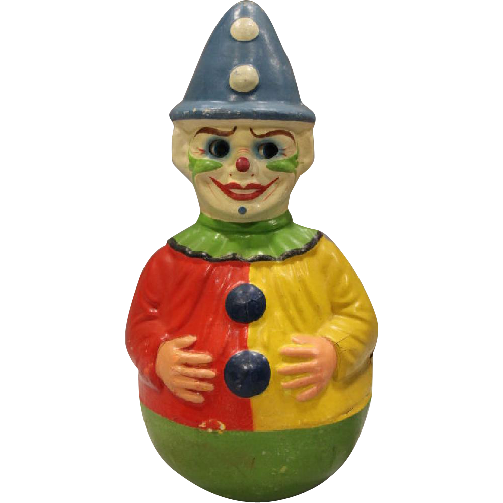 Huge Huge Roly Poly Clown Toy with Moving Eyes