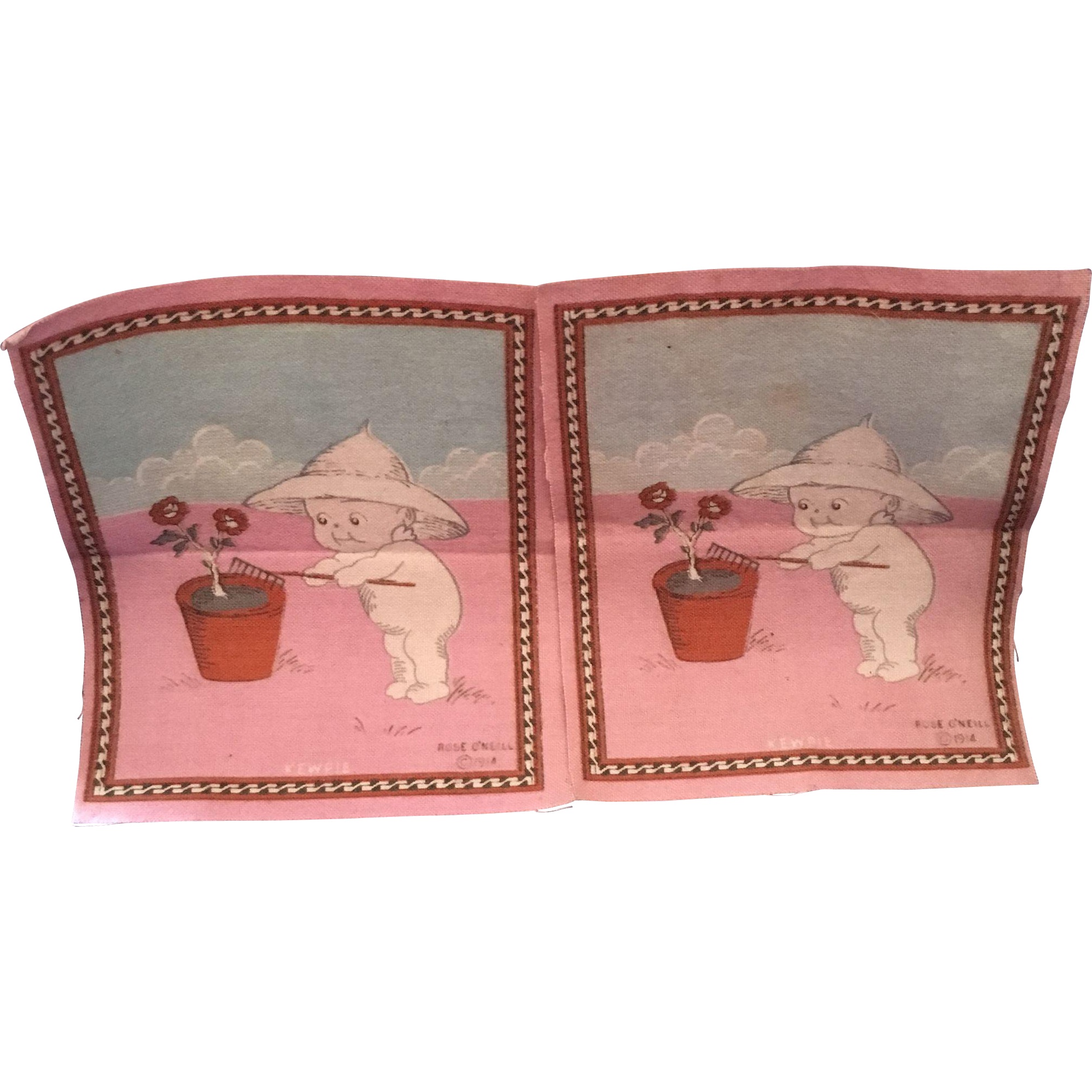 Kewpies Gardening Cigar Felt Cloths