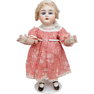 Large German All Bisque Doll Cabinet Size