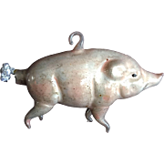 Lauscha Germany Handblown Pig Christmas Tree Ornament