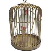 Dollhouse Bird in Cage or Christmas Ornament