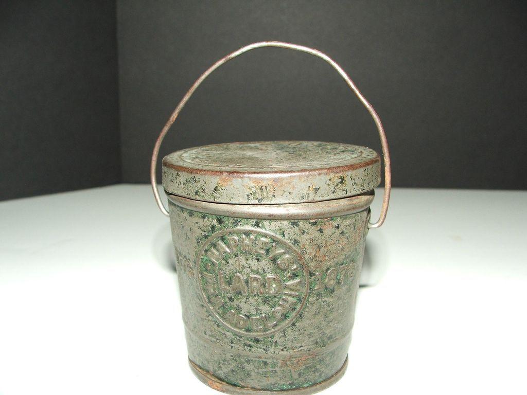 1800S MIniature Naphey's Lard Tin Pail