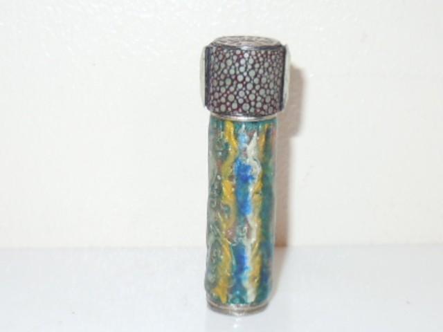 1930's Colored Enameled Shagreen Needle Case