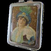 Lady Portrait Match Safe Vesta Case