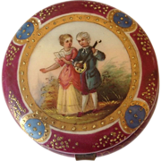 Handpainted Porcelain Portrait Trinket Box