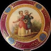 Handpainted Porcelain Portrait Trinket Box