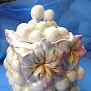 Royal Bayreuth Figural Grape Biscuit Jar
