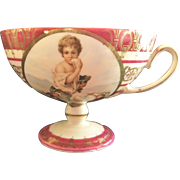R.S. Prussia Melon Eater Pedestal Cup