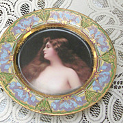 Royal Vienna German Lady Portrait Plate