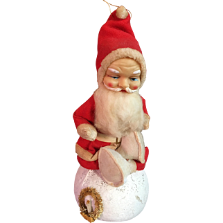 Very Large Santa Clause on Snowball Candy Container