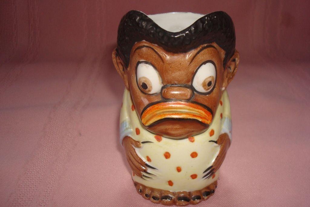 Schafer & Vater Googly Eye Black Man Creamer