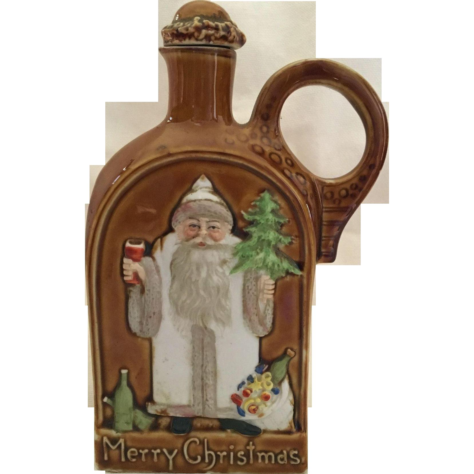 Schafer & Vater Santa Claus Merry Christmas Flask