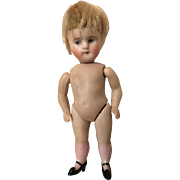 Gorgeous Little All Bisque Mignonette Doll Pink Stockings and Swivel Neck