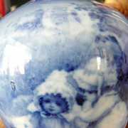 Royal Doulton Babes in the Woods Blue Glaze Vase