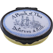 Enamel Motto Patch Box
