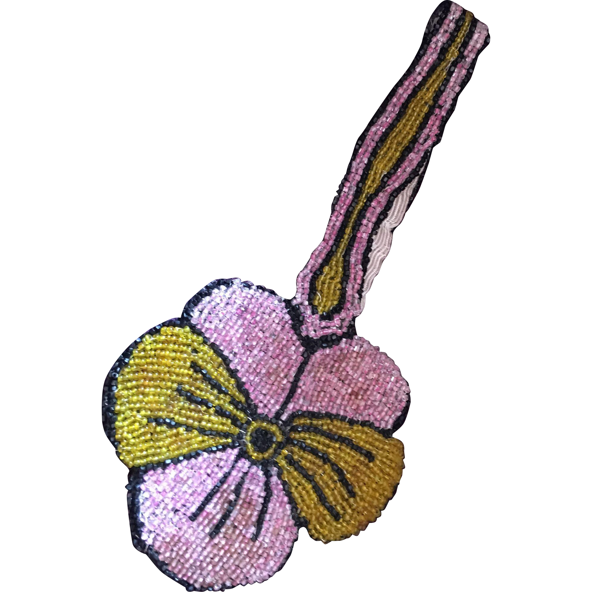 Beaded Flower Pansy Shaped Coin Purse