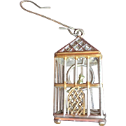 Very Old Metal Bird Cage CHristmas Tree Ornament