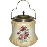 Lovely Glass Biscuit Jar