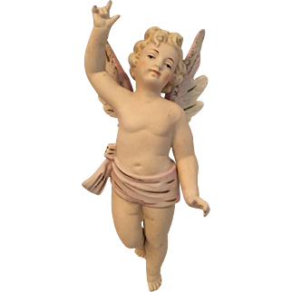 Large Bisque Angel Ornament