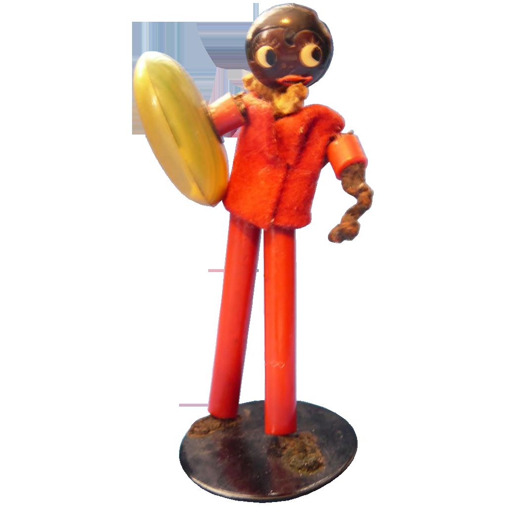 Black Google Eye Man with Dice Shaker