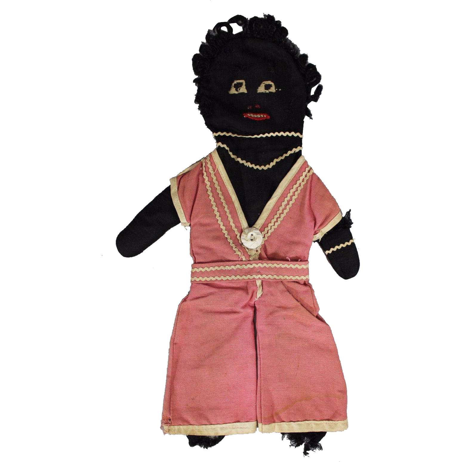 Very Old Black Americana Hand Stitched Rag Doll