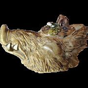 Boar's Head Figural Condiment Jar
